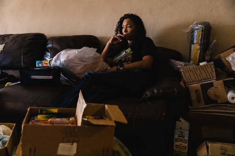 Environmental portrait of Felicia Rangel-Samponaro owner of the Sidewalk School
